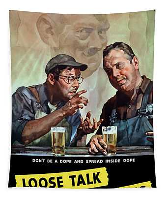 Loose Talk Can Cost Lives - Ww2 Tapestry