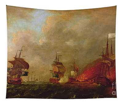 Lord Howe And The Comte Destaing Off Rhode Island Tapestry