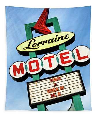 Lorraine Motel Sign Tapestry