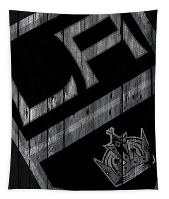 Los Angeles Kings Wood Fence Tapestry