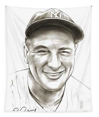 Lou Gehrig Tapestry