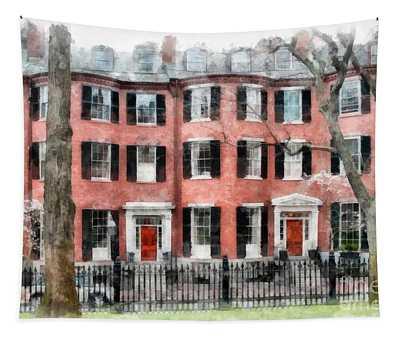 Louisburg Square Beacon Hill Boston Tapestry