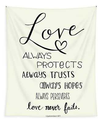 Love Always Tapestry