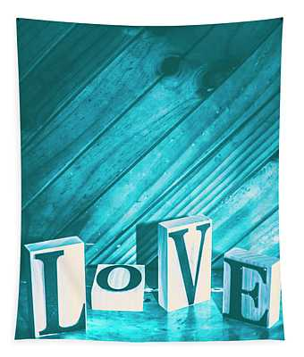 Love Blues Tapestry