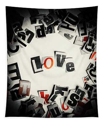 Love In Letters Tapestry