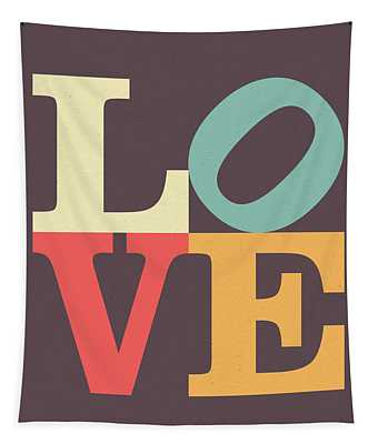 Love Poster Tapestry