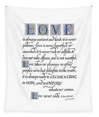 Love Is Always Patient Tapestry