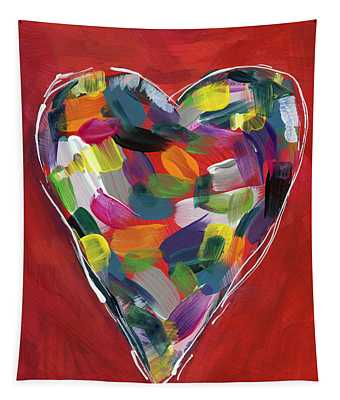 Love Is Colorful - Art By Linda Woods Tapestry