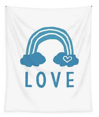 Love Rainbow- Art By Linda Woods Tapestry