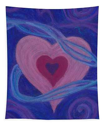 Love Ribbons Tapestry