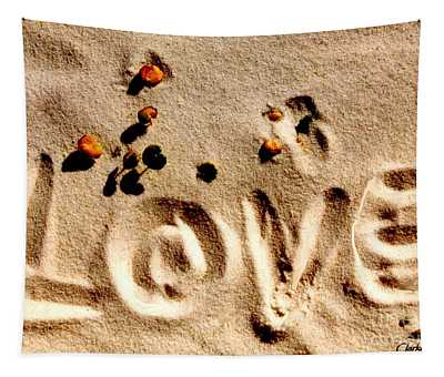 Love On The Beach Tapestry