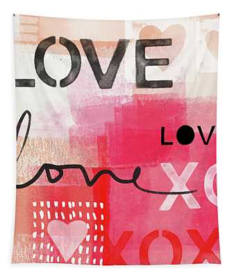 Love Times Three- Art By Linda Woods Tapestry