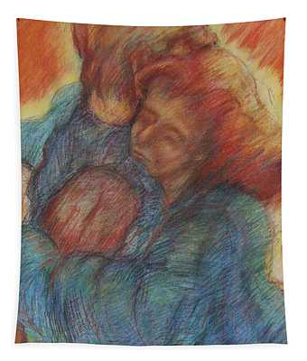 Lovers Embrace Tapestry
