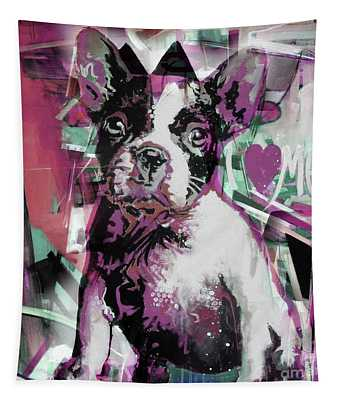 Loving Dog 66n Tapestry
