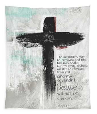 Loving Kindness Cross- Art By Linda Woods Tapestry