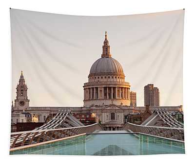 Low Angle View Of St. Pauls Cathedral Tapestry
