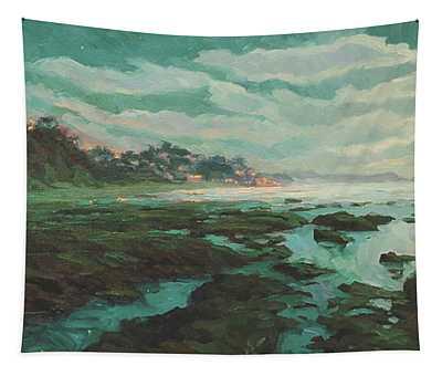 Low Tide At Moonlight Tapestry