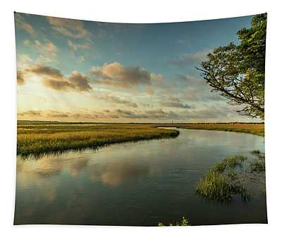 Pitt Street Bridge Creek Sunrise Tapestry