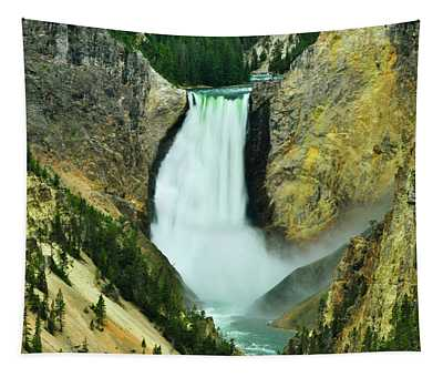 Lower Falls No Border Or Caption Tapestry