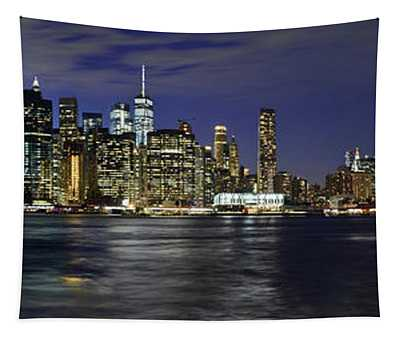 Lower Manhattan From Brooklyn Heights At Dusk - New York City Tapestry