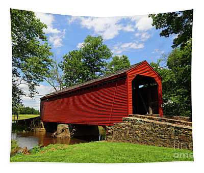 Loys Station Covered Bridge Frederick County Maryland Tapestry