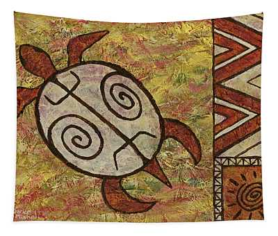 Tapestry featuring the painting Lucky Honu by Darice Machel McGuire