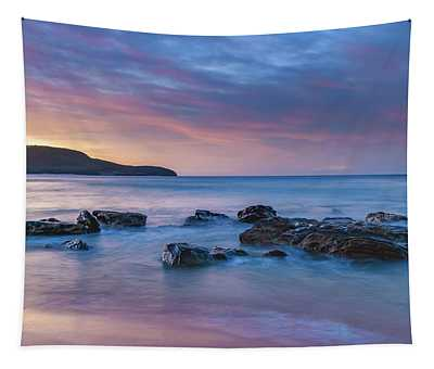 Luminescent Sunrise Seascape Tapestry