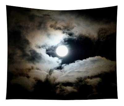 Luminous Moonlit Sky Tapestry