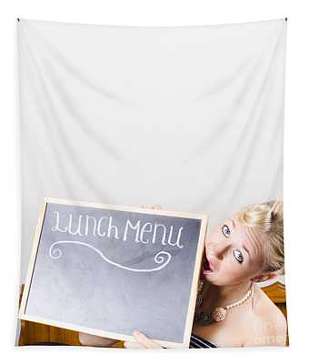 Lunch Time Menu Tapestry