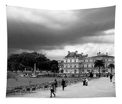 Luxembourg Gardens 2bw Tapestry