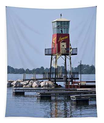 Lyman Harbor Lighthouse Tapestry