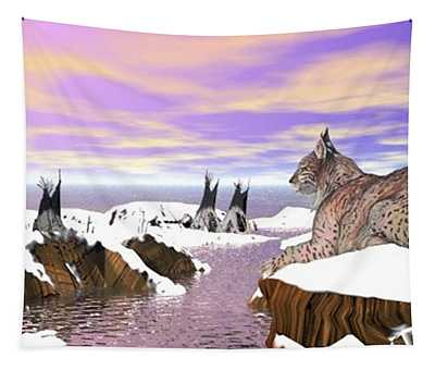 Lynx Watcher Render Tapestry