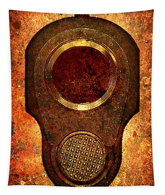 M1911 Muzzle On Rusted Background Tapestry