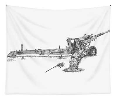 M198 Howitzer - Standard Size Prints Tapestry