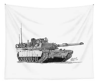 M1a1 A Company 1st Platoon Tapestry