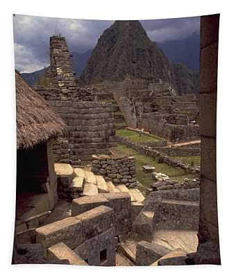 Tapestry featuring the photograph Machu Picchu by Travel Pics