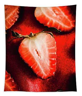 Macro Shot Of Ripe Strawberry Tapestry