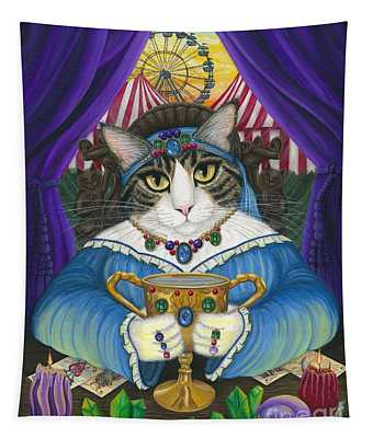 Madame Zoe Teller Of Fortunes - Queen Of Cups Tapestry