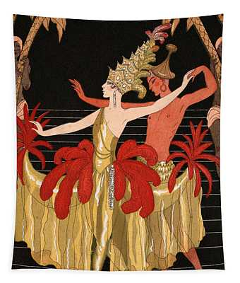 Mademoiselle Sorel At The Grand Prix Ball Tapestry