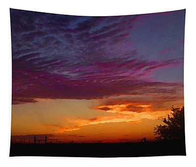 Tapestry featuring the digital art Magenta Morning Sky by Shelli Fitzpatrick