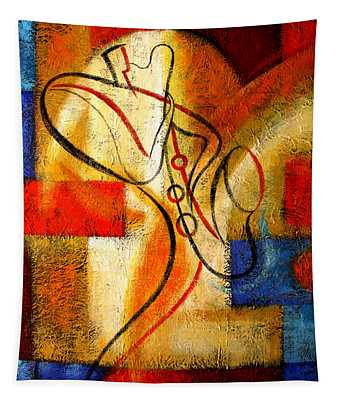Magic Saxophone Tapestry