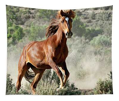 Magnificent Mustang Wildness Tapestry