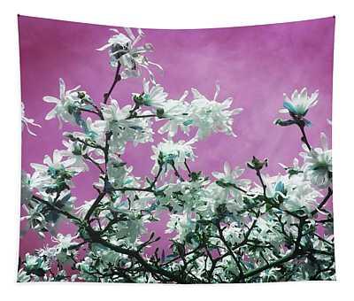 Magnolia Sky In Pink Tapestry