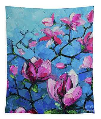 Magnolias For Ever Tapestry