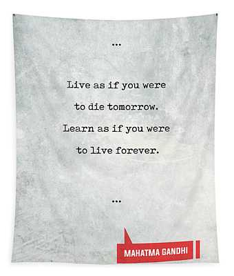 Mahatma Gandhi Quotes 1 - Literary Quotes - Book Lover Gifts - Typewriter Quotes Tapestry