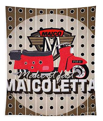 Maicoletta Scooter Advertising Tapestry