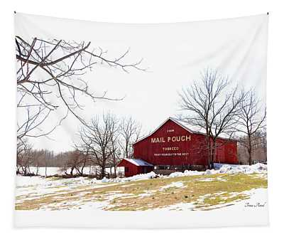 Mail Pouch Tobacco Barn Tapestry