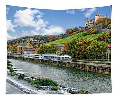 Main River Panorama Tapestry