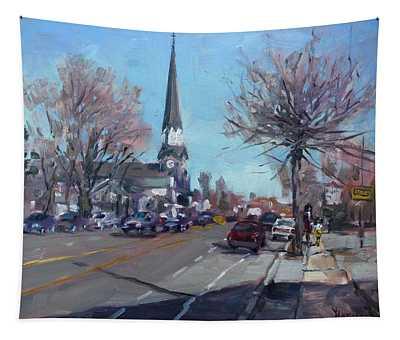 Main Street In Williamsville Tapestry
