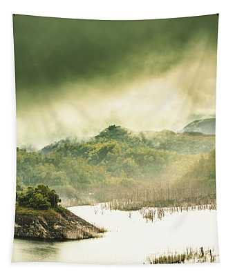 Majestic Morning Lake Tapestry